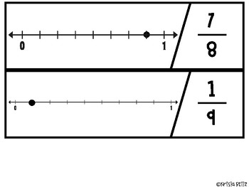 Fraction Number Line Puzzles {FREEBIE}