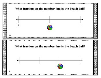 Fraction Number Line Task Cards