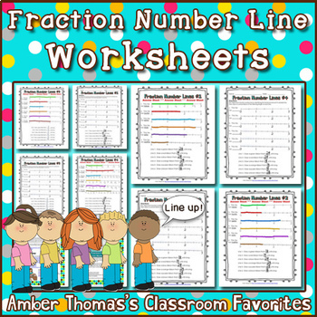 Fraction Number Line Worksheets By Amber Thomas Tpt