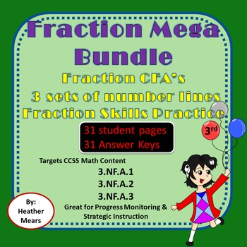 Fraction Bundle  Number Lines CFA's Fraction Skills  Fraction Puzzles