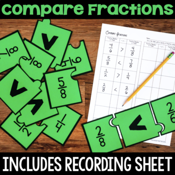 Fraction Number Lines & Fraction Visual Models Number Puzzles