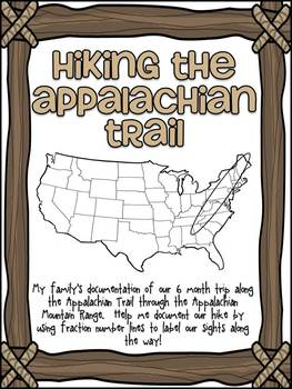 Fraction Number Lines - Hiking the Appalachian Trail