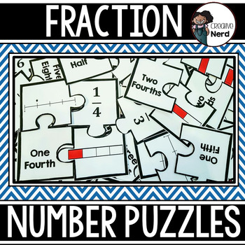 Fraction Number Puzzles (Match Fractions in Different Forms)