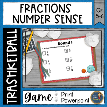 Fraction Number Sense Trashketball Math Game