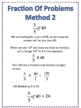 Fraction Of Problems achor chart/ mini poster
