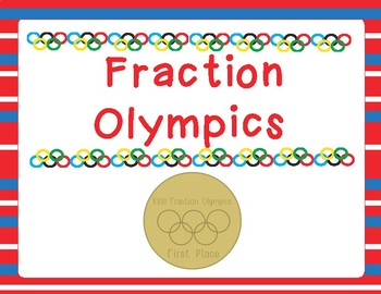 Fraction Olympics Math Stations