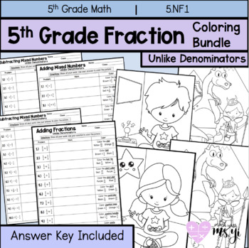 Fraction Operation Coloring Practice Bundle