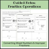 Fraction Operations Guided Notes