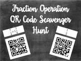 Fraction Operation QR Code Scavenger Hunt