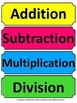 Fractions: Addition Subraction Multipication & Division Sorting/Center Activity