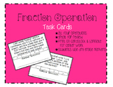 Fraction Operation Task Cards