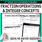 Fraction Operation and Integer Concepts 6th Grade Interven