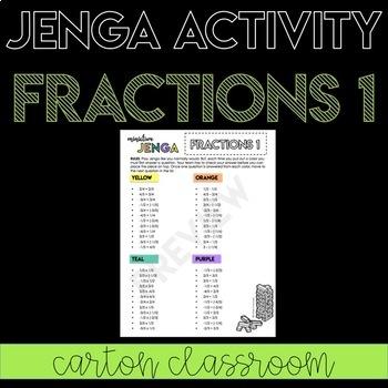 Fraction Operations 1 Jenga Activity