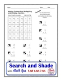 Fraction Operations Search and Shade