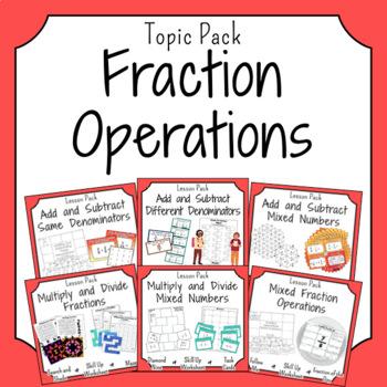 Fraction Operations Activities