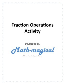 Fraction Operations Activity
