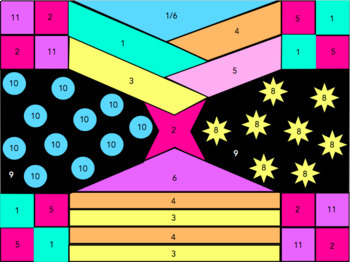 Fraction Operations - Add, Subtract, Multiply, Divide Fractions: Coloring Pages