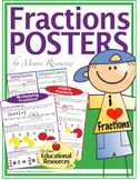 FIVE MATH POSTERS - Fraction Operations - All Four Operati