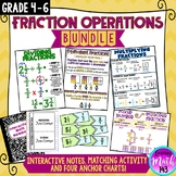 Fraction Operations Anchor Chart BUNDLE!
