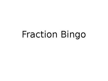 Fraction Operations Bingo