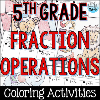 Fraction Operations Coloring Activities