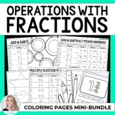 Fraction Operations Coloring Pages Mini Collection