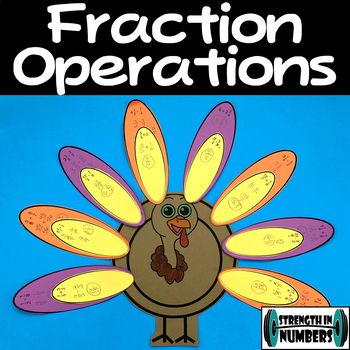 Fraction Operations Cooperative Turkey Activity Puzzle Thanksgiving