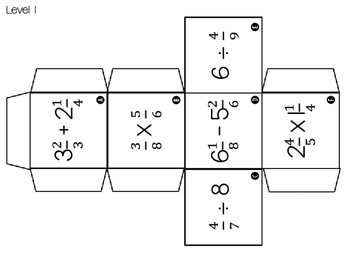 Fraction Operations Differentiated/Leveled Cubes