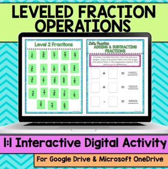 Fraction Operations Digital Activity