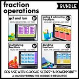 Fraction Operations Digital Math Activity Bundle | 6th Grade Math