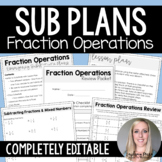 Fraction Operations Substitute Plans