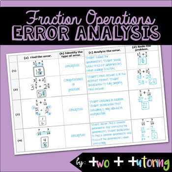 Fraction Operations Error Analysis