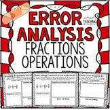 Fraction Operations Error Analysis {Center, Enrichment, Assessment}