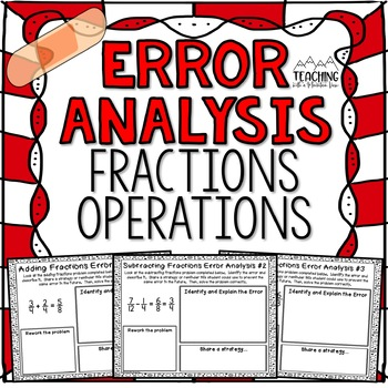Fraction Operations Error Analysis {Center, Enrichment, As
