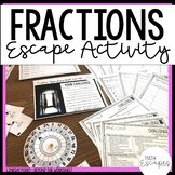Fraction Operations Escape Room Activity