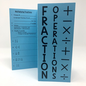 Fraction Operations Foldable