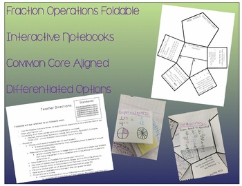 Fraction Operations Foldable - Ladder Flippable