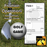 Fraction Operations - Golf Game