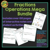 Fractions Interactive Notebook & Student Activities - Bundle