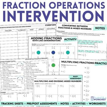 Fraction Operations Math Intervention Program