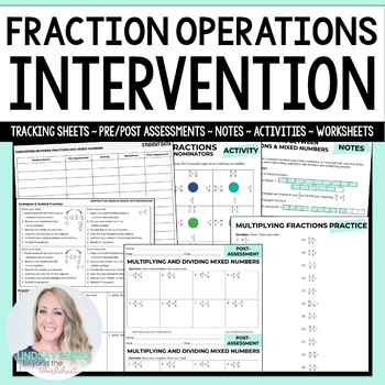Fraction Operations Math Intervention Program