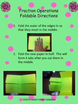 Fraction Operations Math Foldable