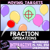 Fraction Operations Moving Targets Interactive Review Game