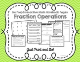 Fraction Operations Interactive Notebook