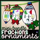 Fraction Ornaments Holiday Math Pennants mini-bundle
