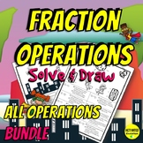Fractions Operations Practice Coloring by Answer