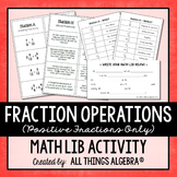 Fraction Operations Math Lib (Positive Fractions Only)