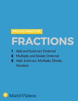 Fraction Operations Practice