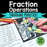 Fraction Operations Practice Activity