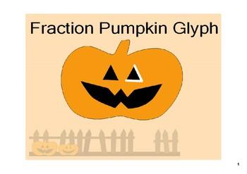 Fraction Operations Pumpkin Glyph